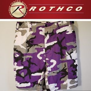 👾Purple Camo BDU Cargo Shorts-Rothco Ultra Force
